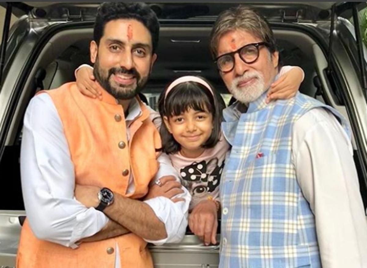 Amitabh Bachchan kissing granddaughter Aaradhya on cheeks is simply aww-dorable