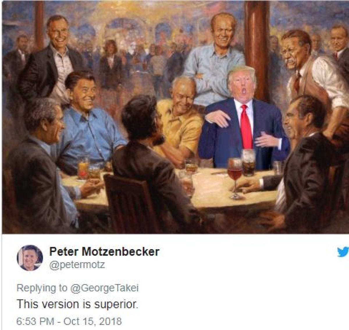 US President Donald Trump mocked over White House painting