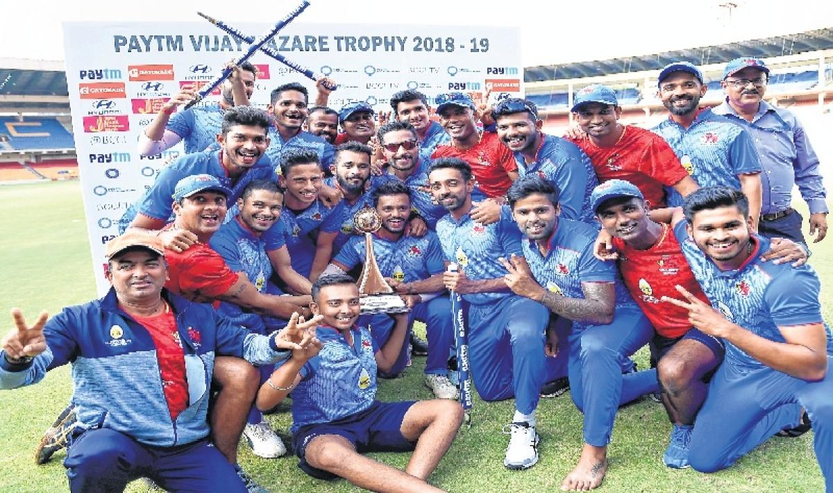 Vijay Hazare Trophy: Mumbai beats Delhi to lift title for third time