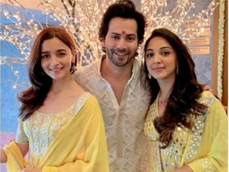 Karan Johar's Diwali puja: Alia Bhatt, Varun Dhawan, Kiara Advani, Vicky Kaushal and others attend; see pics