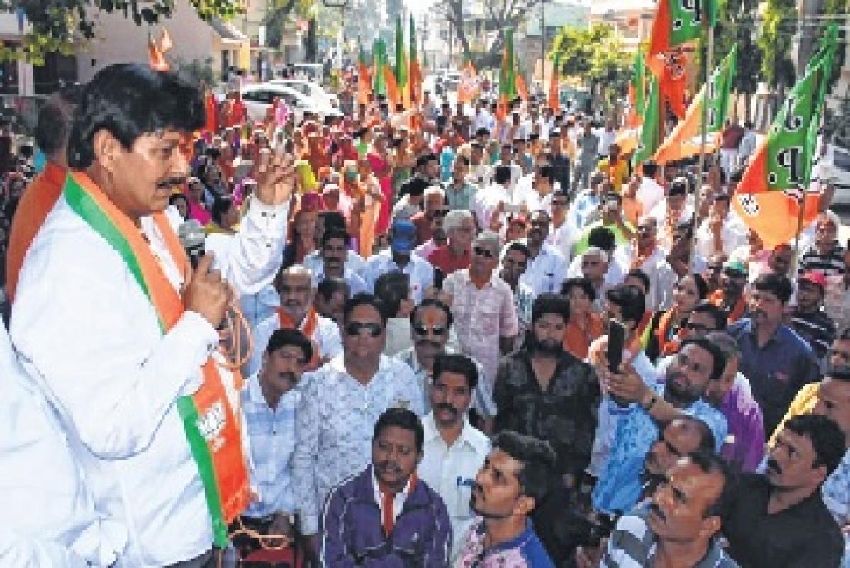 BJP candidate Ramesh Mendola
