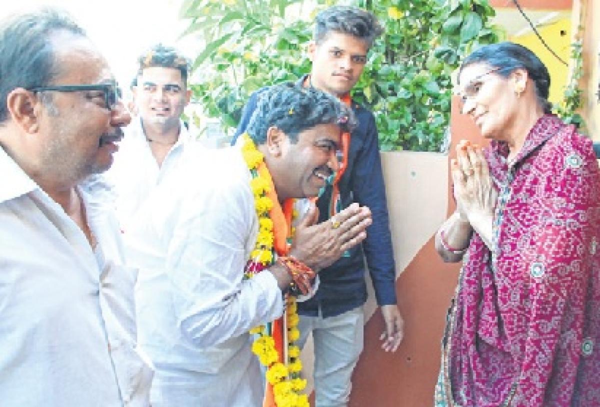 Congress candidate Sanjay Shukla