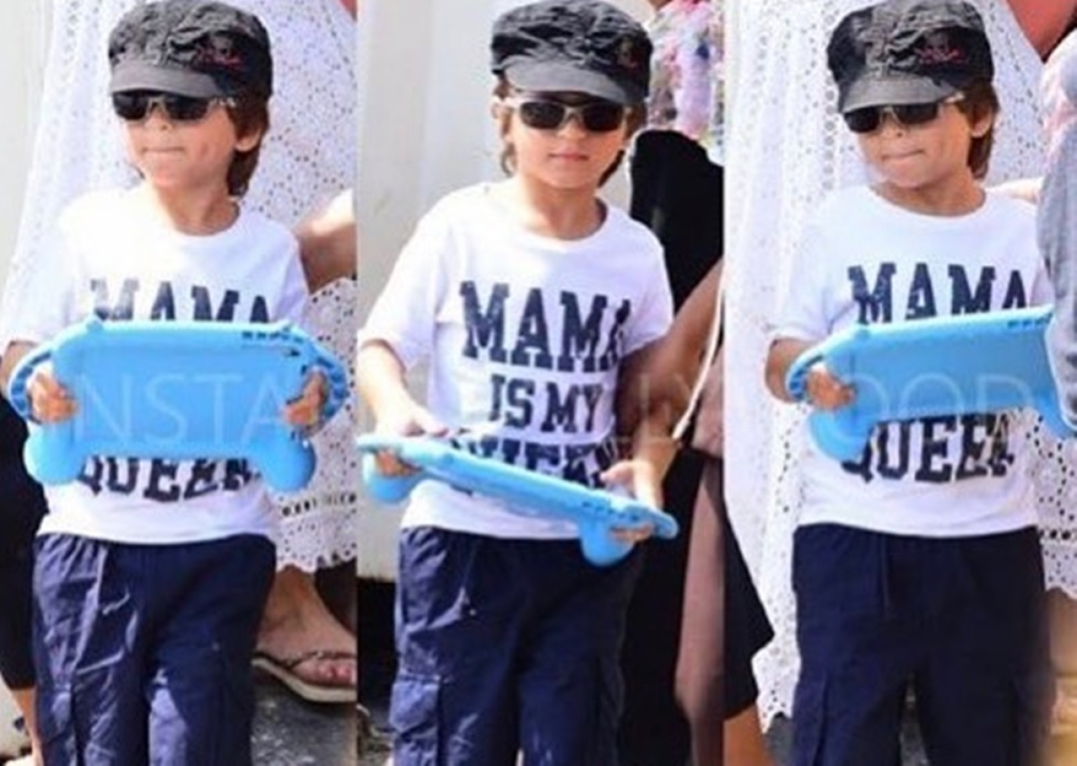Shah Rukh Khan's son AbRam is slaying the weekend in a 'MAMA IS MY QUEEN' t-shirt