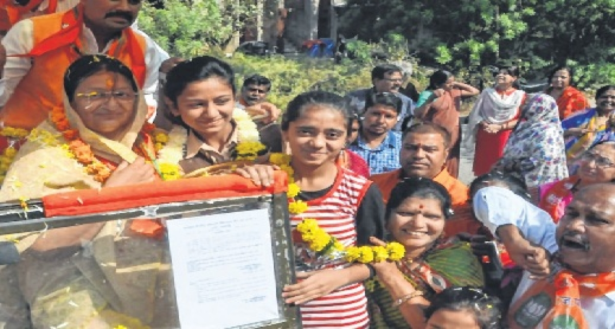 BJP candidate Malini Gaud