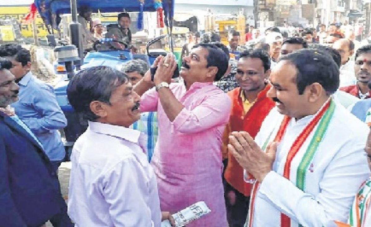 Congress candidate Satyanarayan Patel