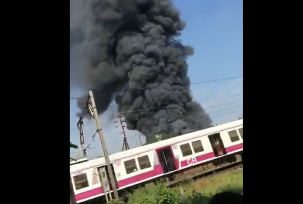 Thane: Major fire at chemical factory in Ambernath, Central line services affected