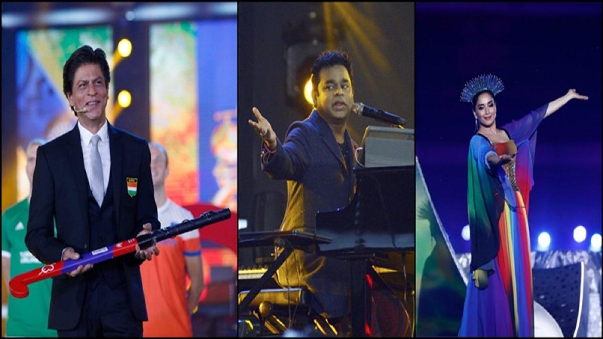 Hockey World Cup 2018: Shahrukh Khan, Madhuri Dixit, AR Rahman entertain crowd at opening ceremony, see pics