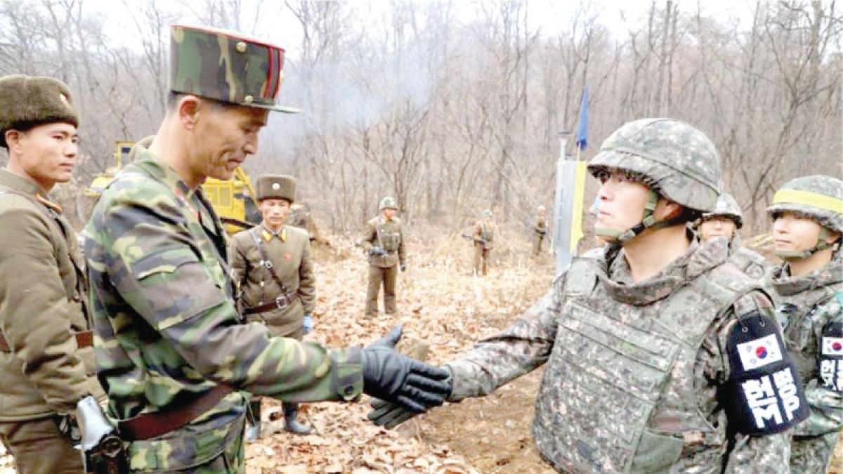 Two Koreas connect DMZ road across border: Seoul