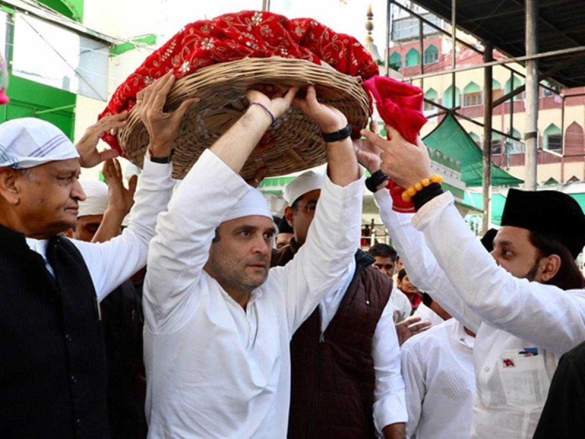 Congress president Rahul Gandhi offers prayers at Ajmer Sharif Dargah