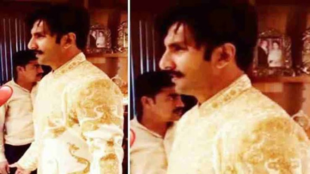 See inside pics! Ranveer Singh looks dapper in white and gold sherwani at Konkani wedding