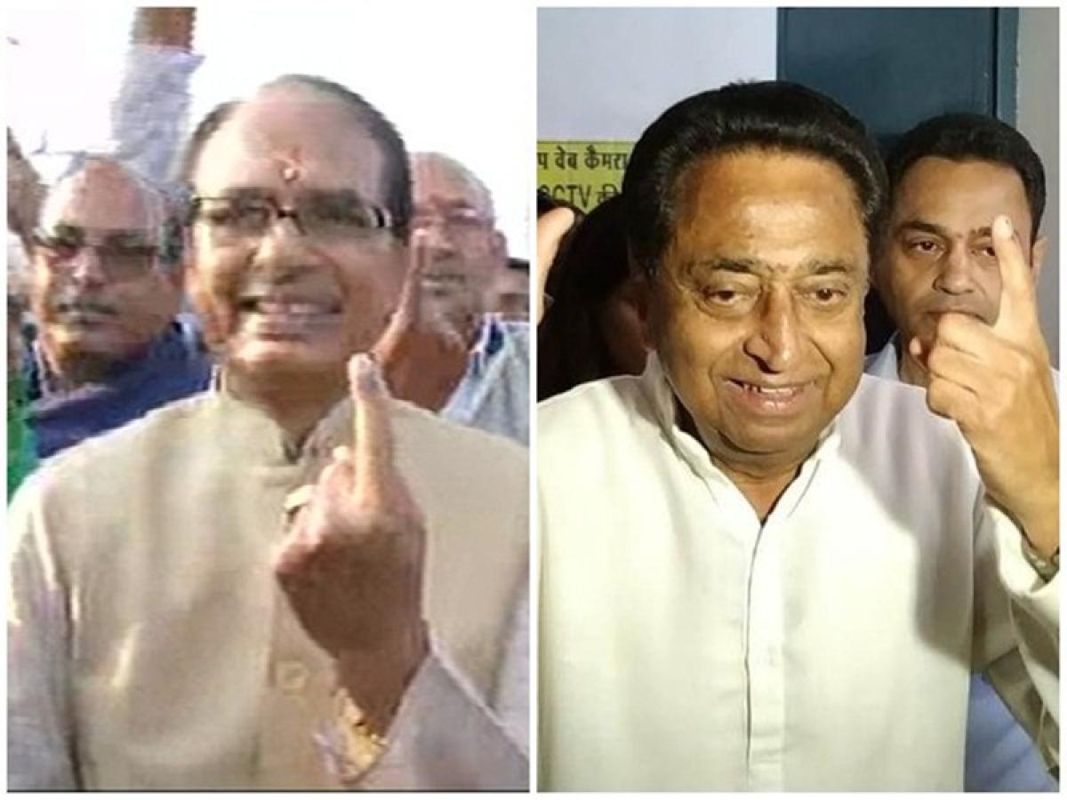 Madhya Pradesh Elections 2018: Shivraj Singh Chouhan, Kamal Nath cast votes