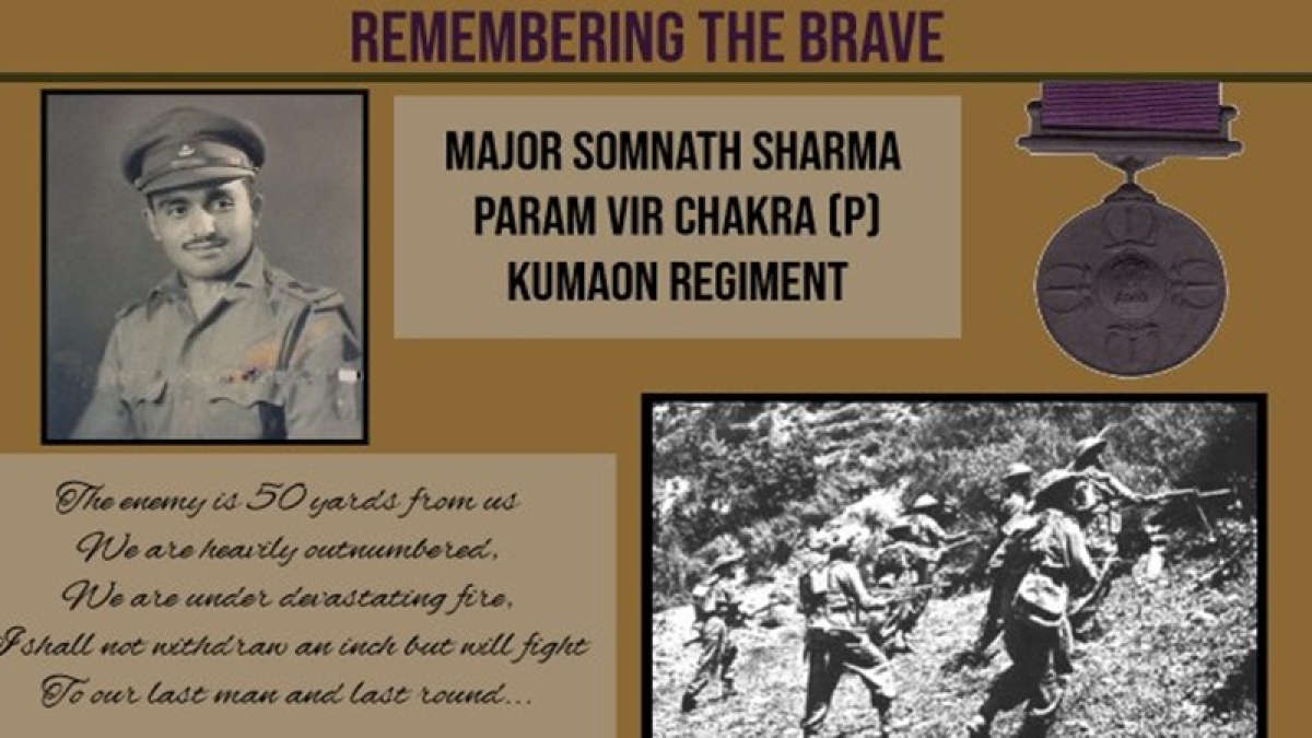 72nd Battle of Budgam Day: Indian Army pay tribute to 1st Param Vir Chakra awardee Major Somnath Sharma