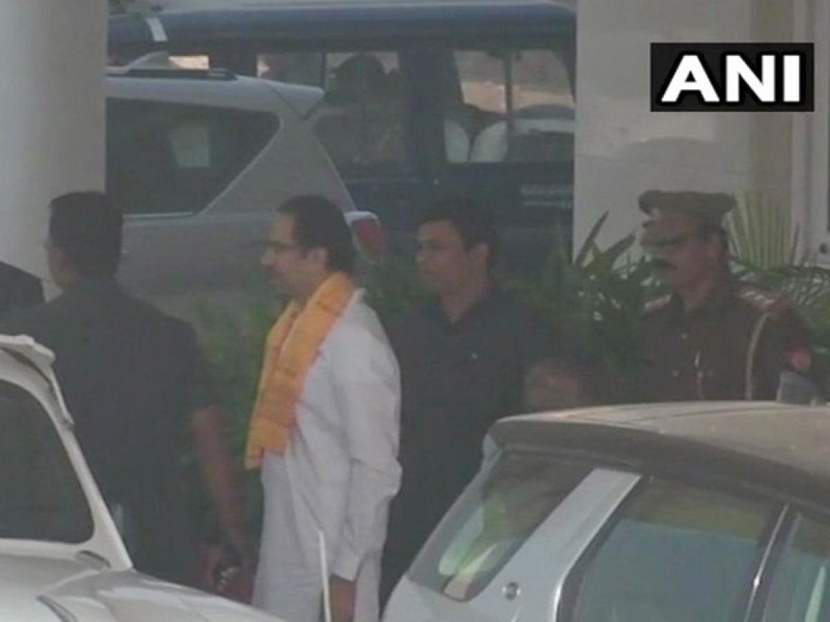 Shiv Sena chief Uddhav Thackeray offers prayer at Ram Lalla temple in Ayodhya