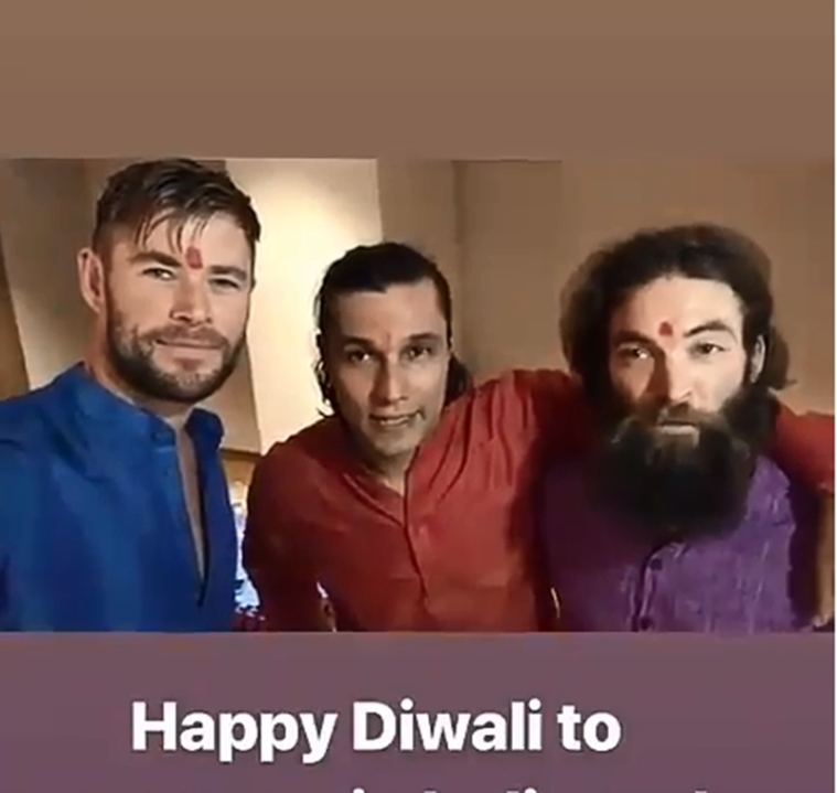 Avengers fame Chris Hemsworth aka 'Thor' wishes everyone a Happy Diwali in Desi style