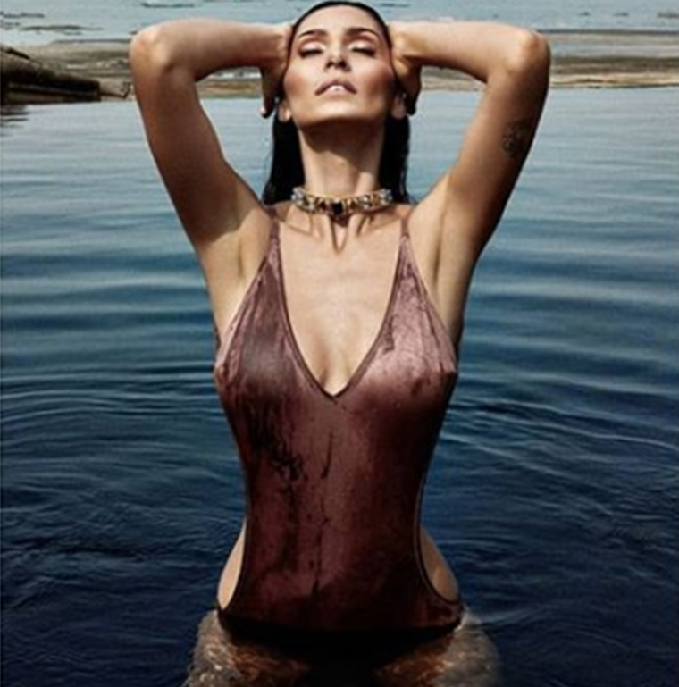 Bruna Abdullah's tight-wet monokini picture leaves little to the imagination