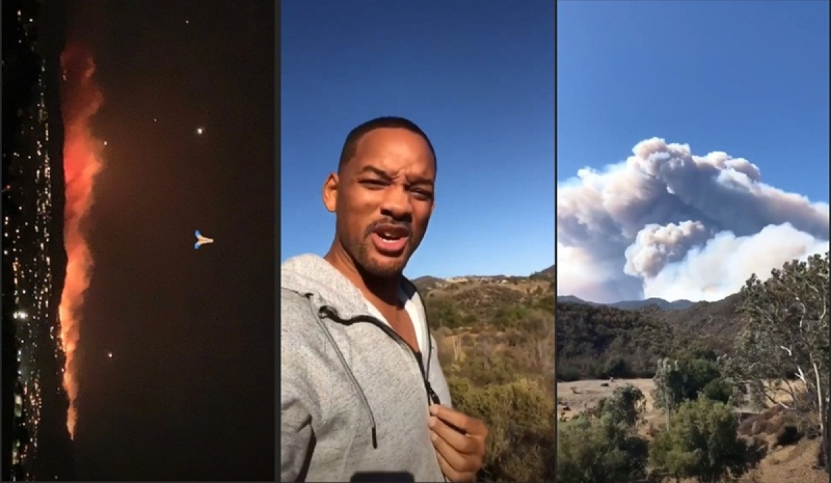 Will Smith, Kim Kardashian, Lady Gaga and other Hollywood stars forced to evacuate due to California wildfire