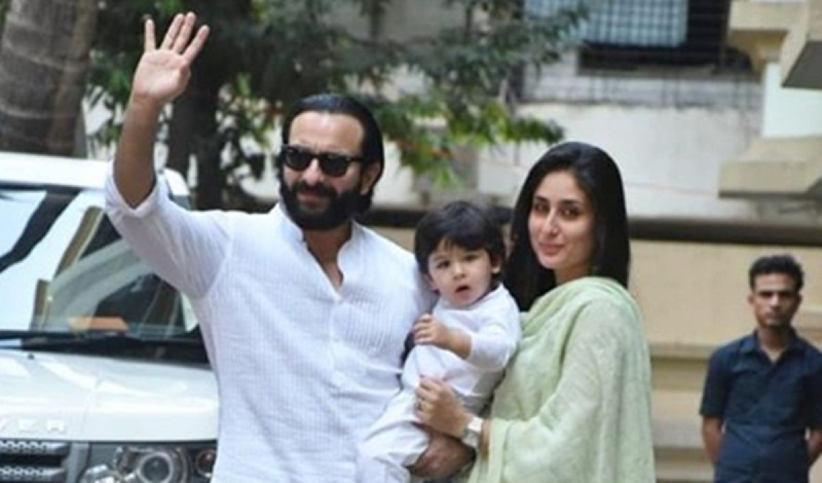 Kareena, Saif and Taimur rock the traditional look as they head to Karisma's Diwali puja; See pics