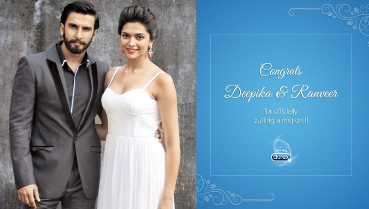 DeepVeer Wedding! Condom brand Durex, endorsed by Ranveer Singh, tweeted this witty congratulatory message