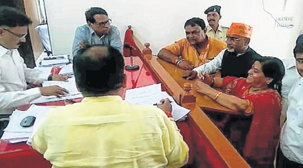 Indore: Usha Thakur files papers