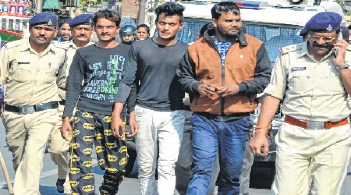 Bhopal: Criminals paraded, taken to crime spot