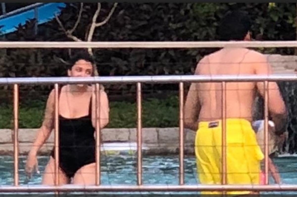 Gosh! Aishwarya rocks the black monokiniat her vacay in Goa