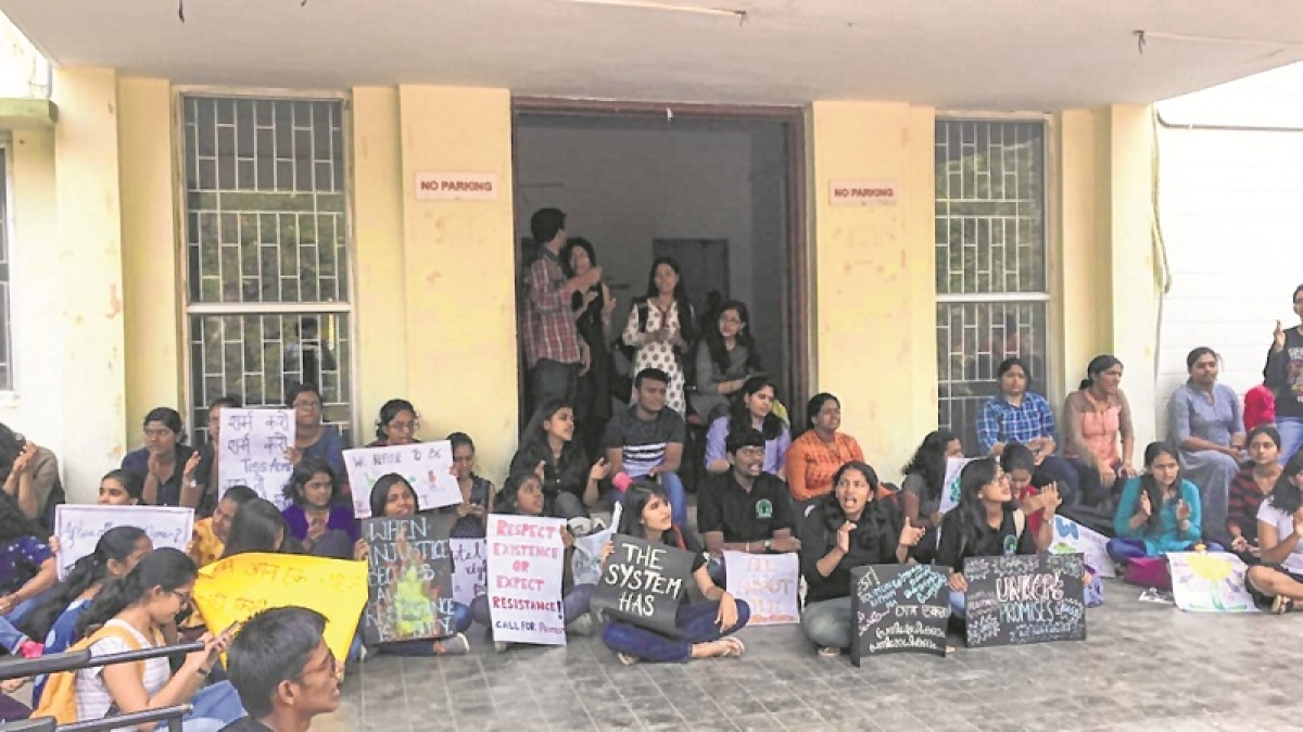 Mumbai: Hyderabad TISS students protest