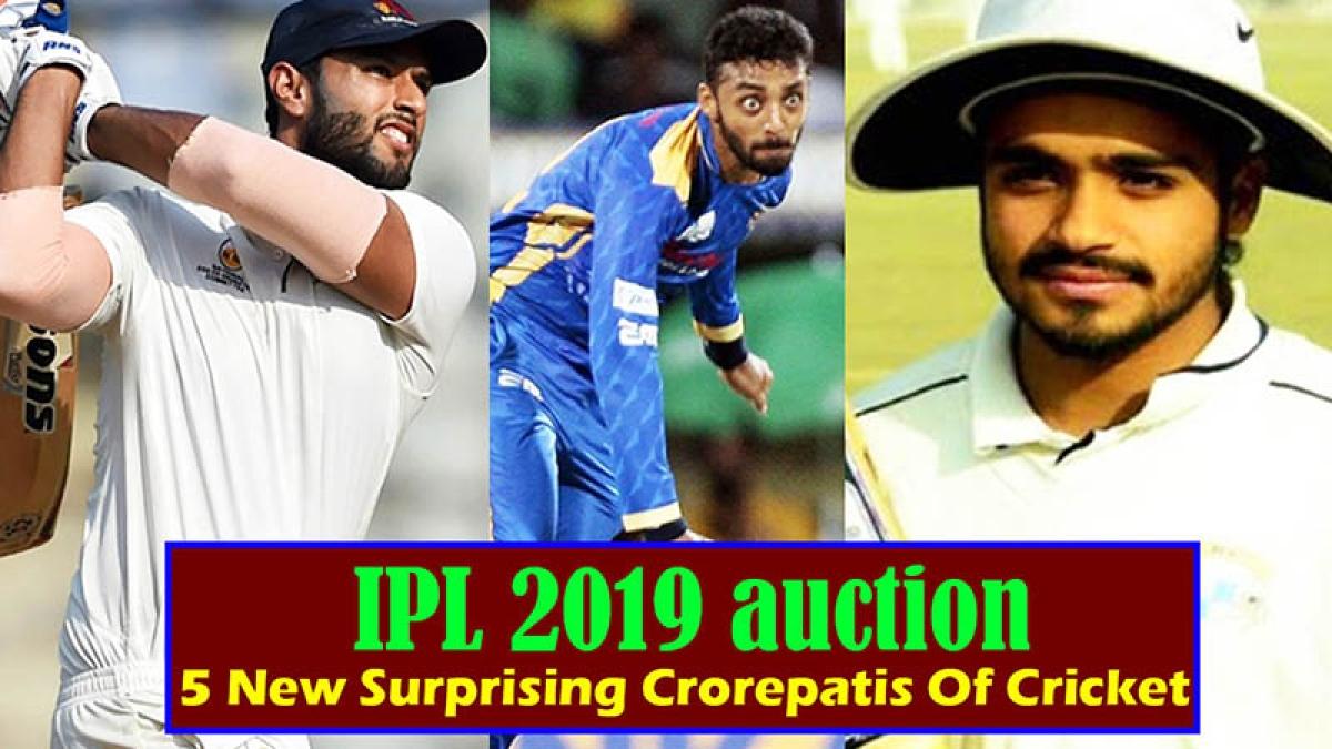 IPL 2019 Auction | 5 New Surprising Crorepatis Of Cricket