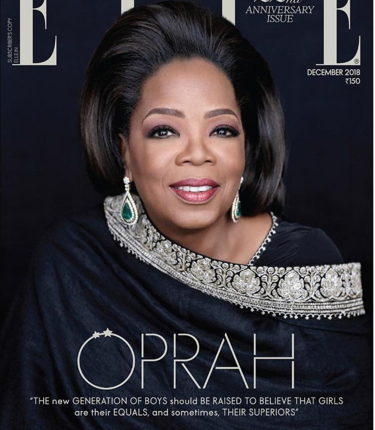 Oprah Winfrey dazzles in Sabyasachi Mukherjee ensemble