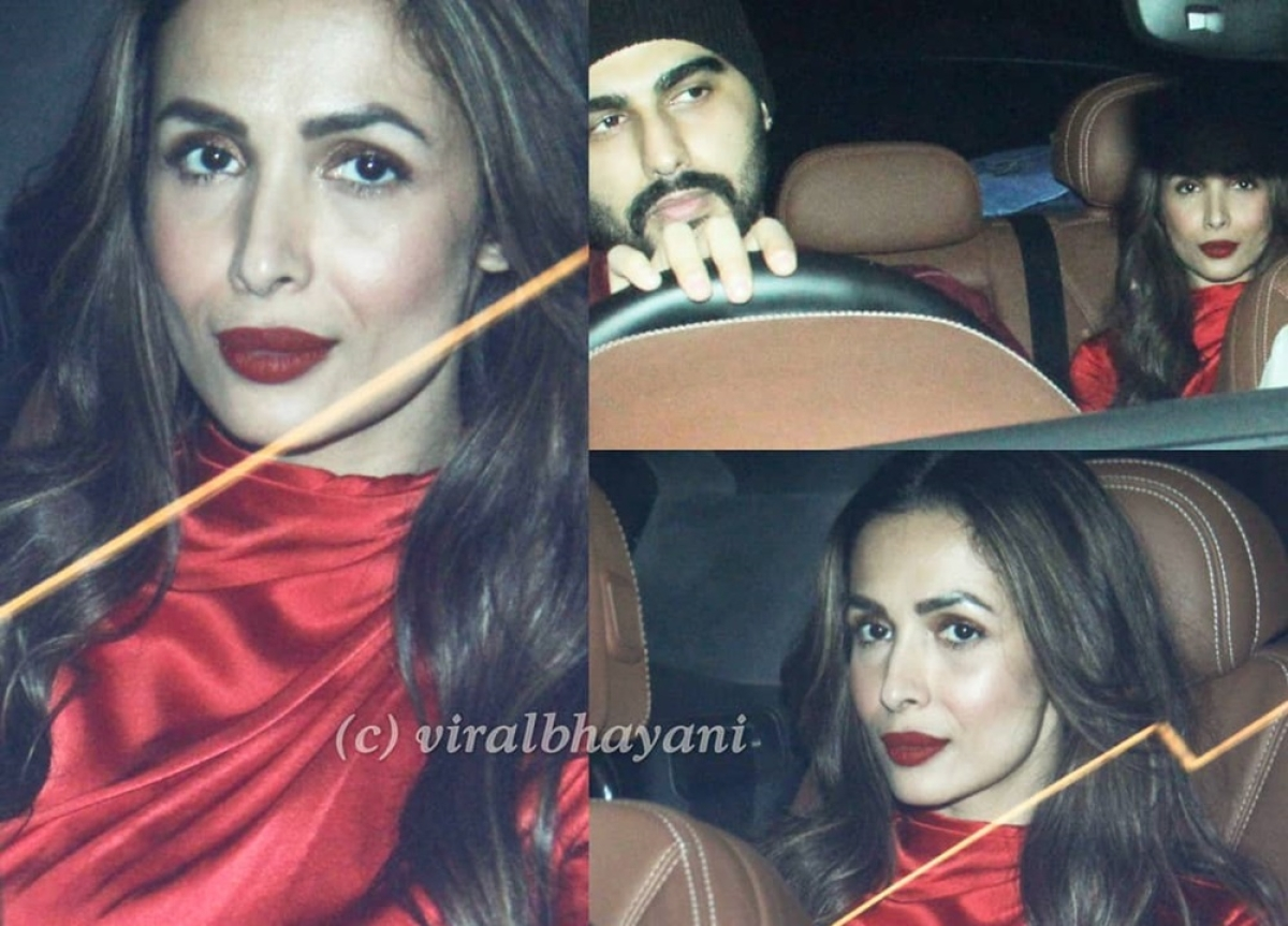 Rumoured lovebirds Arjun Kapoor, Malaika Arora spotted together at Christmas party