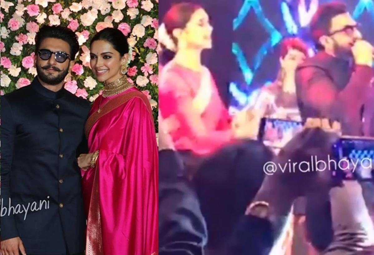 Watch Deepika, Ranveer's crazy dance on 'Aankh Maarey' from Kapil Sharma'sreception