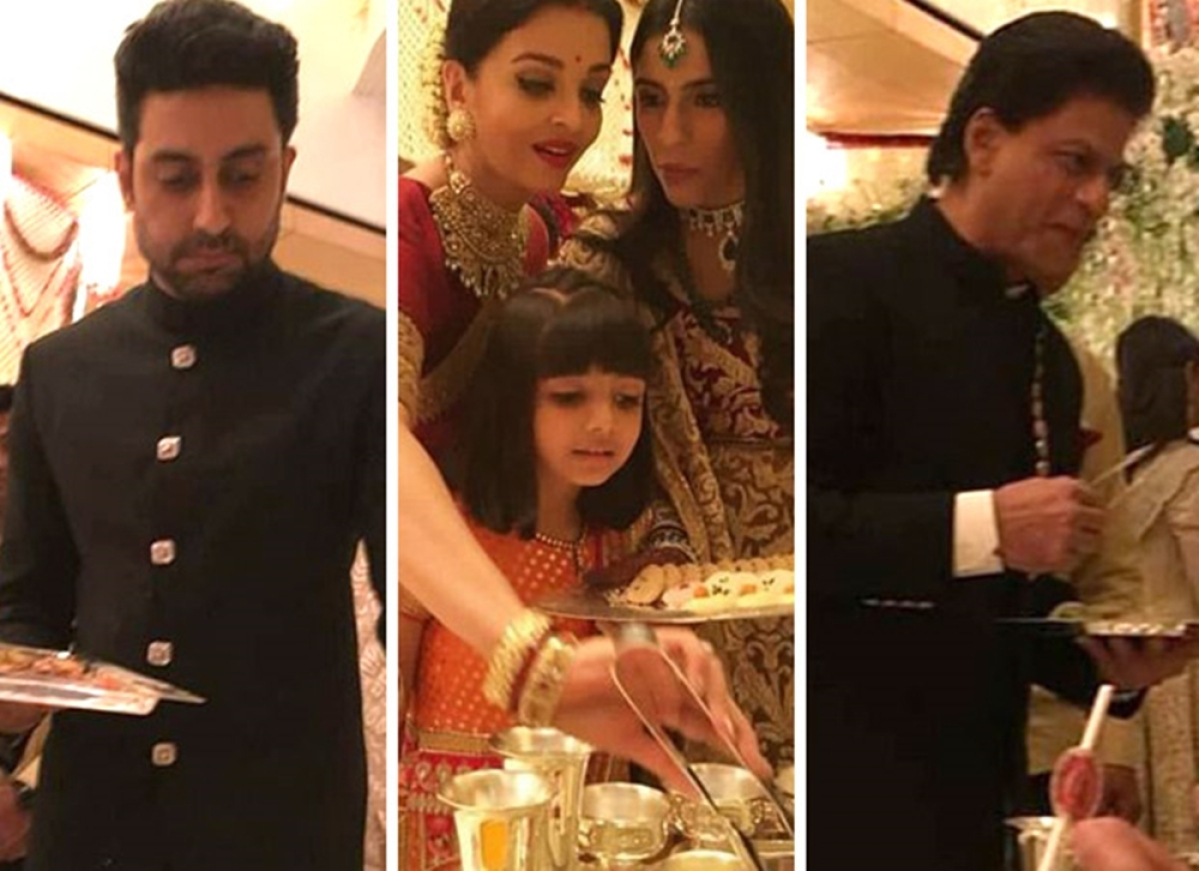 Abhishek Bachchan explains why Bollywood celebrities were serving food at Isha Ambani's wedding