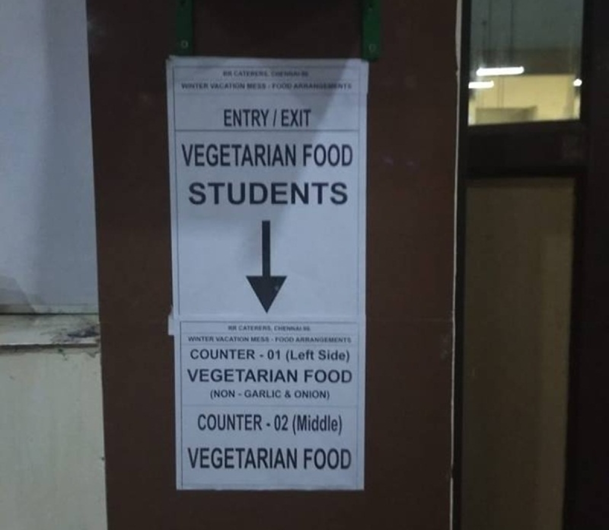 IIT-Madras stokes controversy after posters demanding separate exits, wash basins for veg, non-veg students