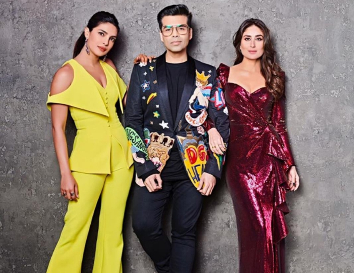 Koffee With Karan 6: Priyanka Chopra and Kareena Kapoor Khan shoot together for the grand finaleepisode