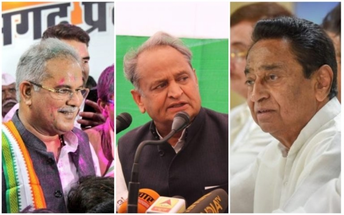 State Assembly Elections 2018: Kamal Nath, Ashok Gehlot, Bhupesh Baghel emerge front-runners for CM posts