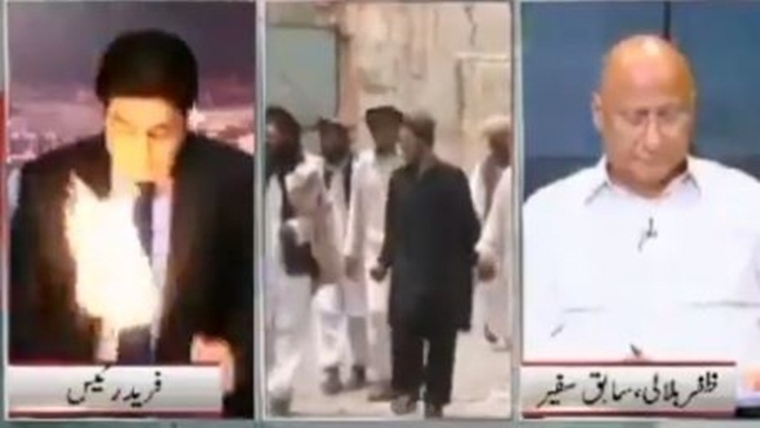 Pakistani news anchor saving his life from fire on live TV will give