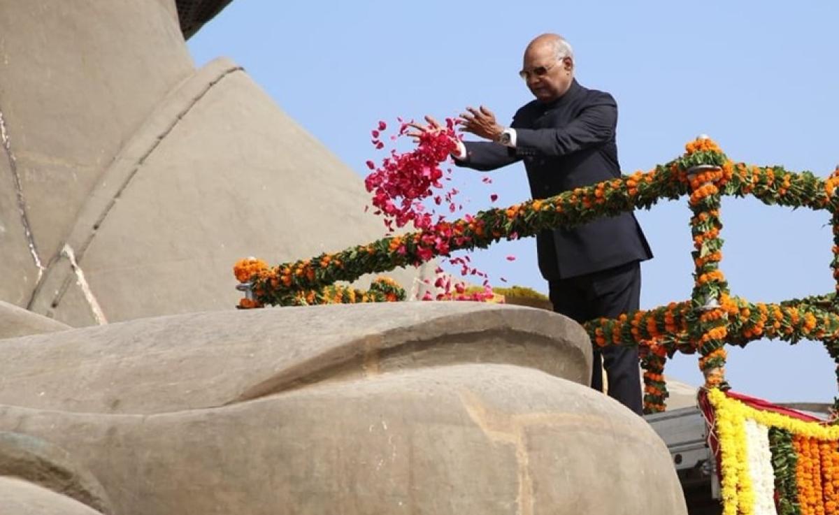 President Kovind visits Statue of Unity, lays foundation stone for railway station at Kevadiya