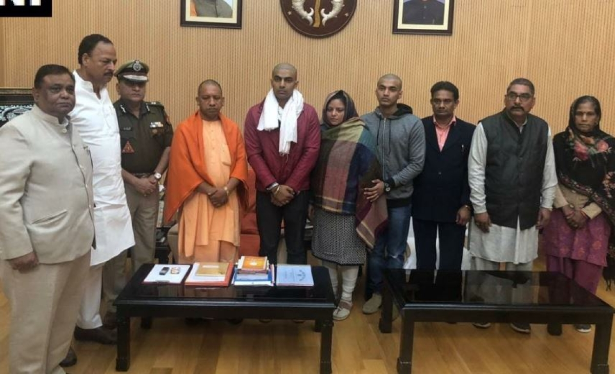 Bulandshahr violence: Policeman Subodh Singh's family meets Yogi Adityanath