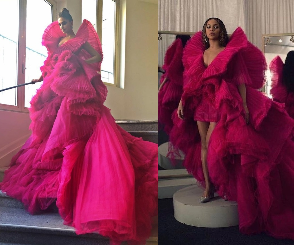 Deepika Padukone or Beyonce, who wore the pink couture better?