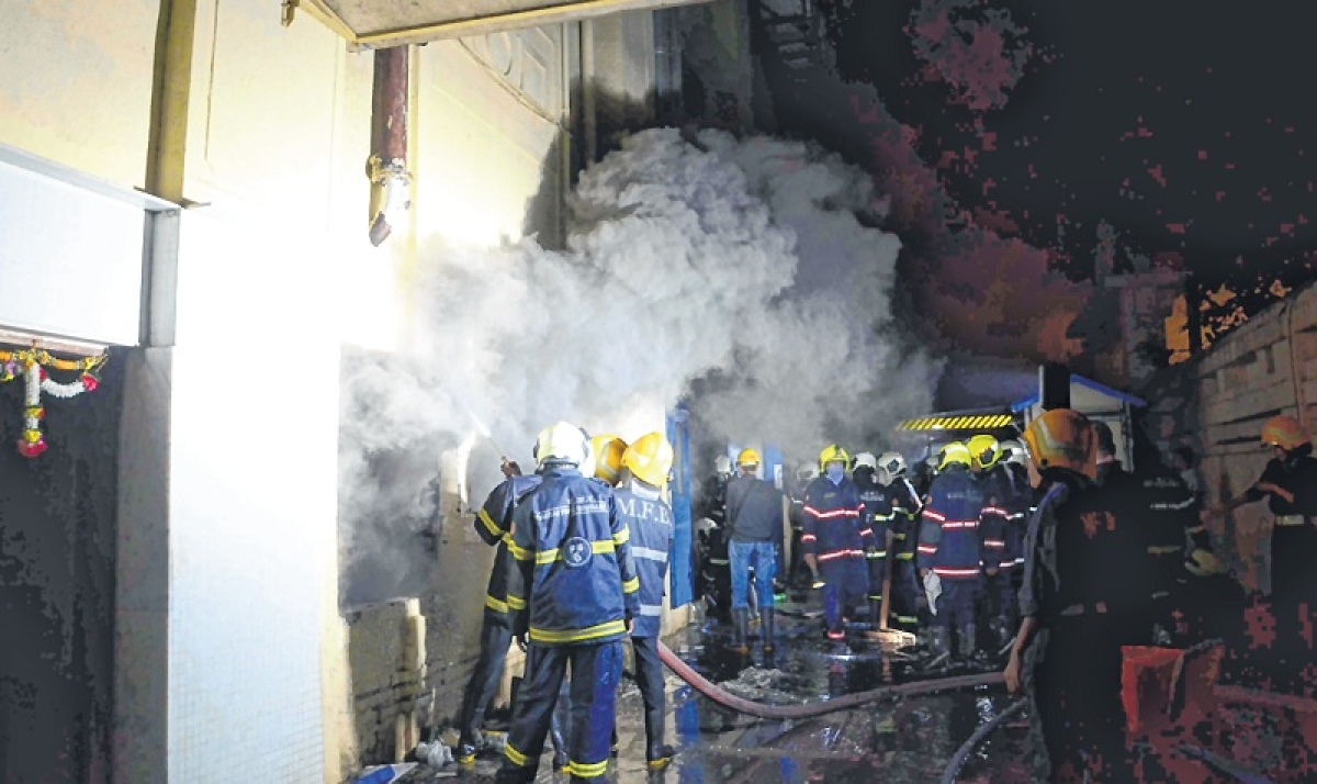 Massive fire at under-construction hospital in Nagpur, two critical