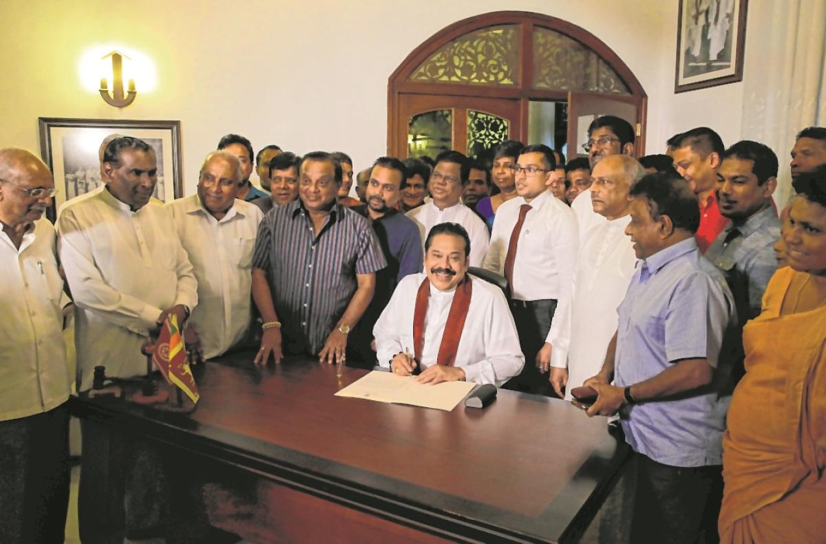 Mahinda Rajapaksa resigns as Sri Lanka's Prime Minister