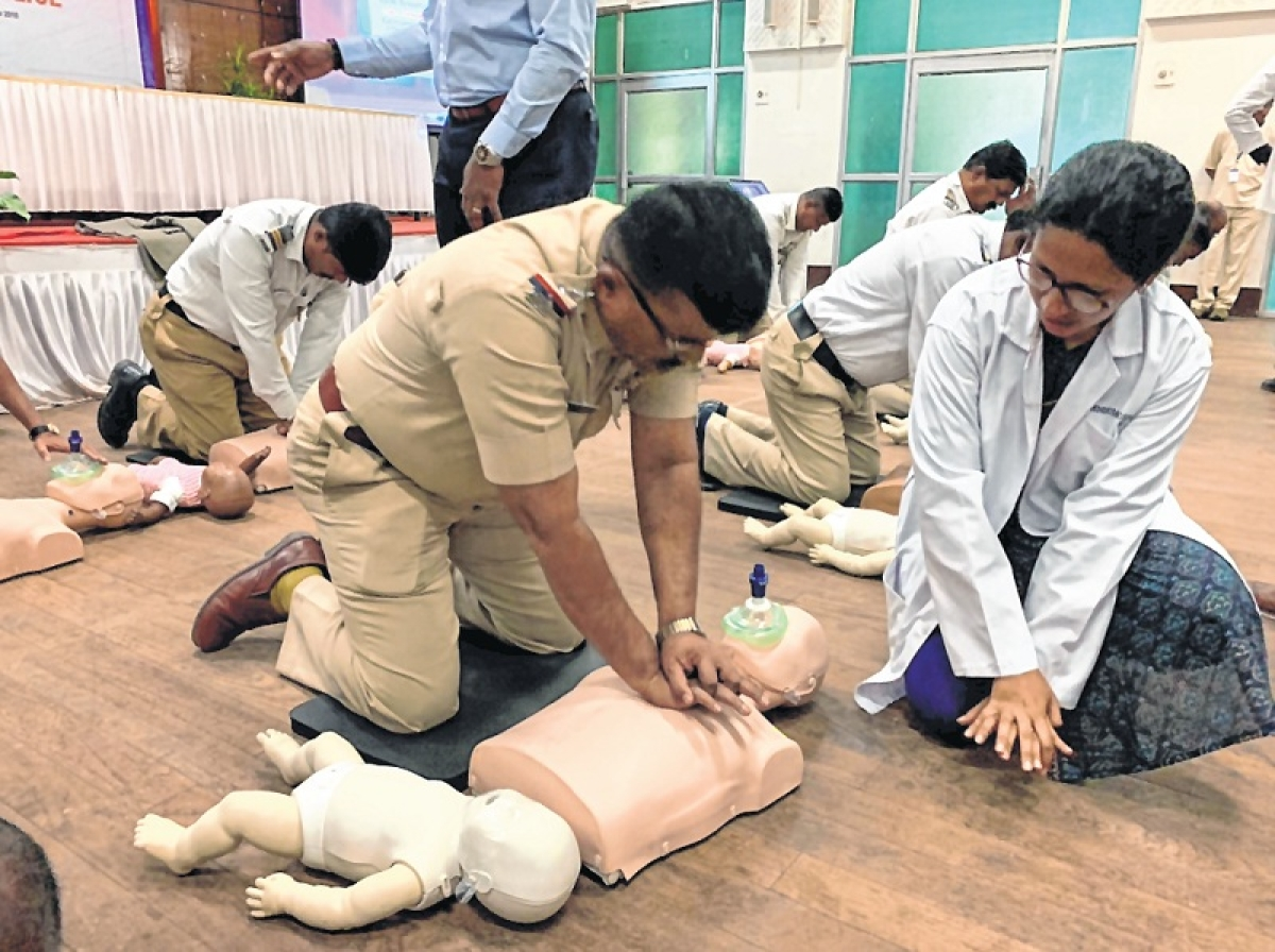 Cops undergo three-day CPR training