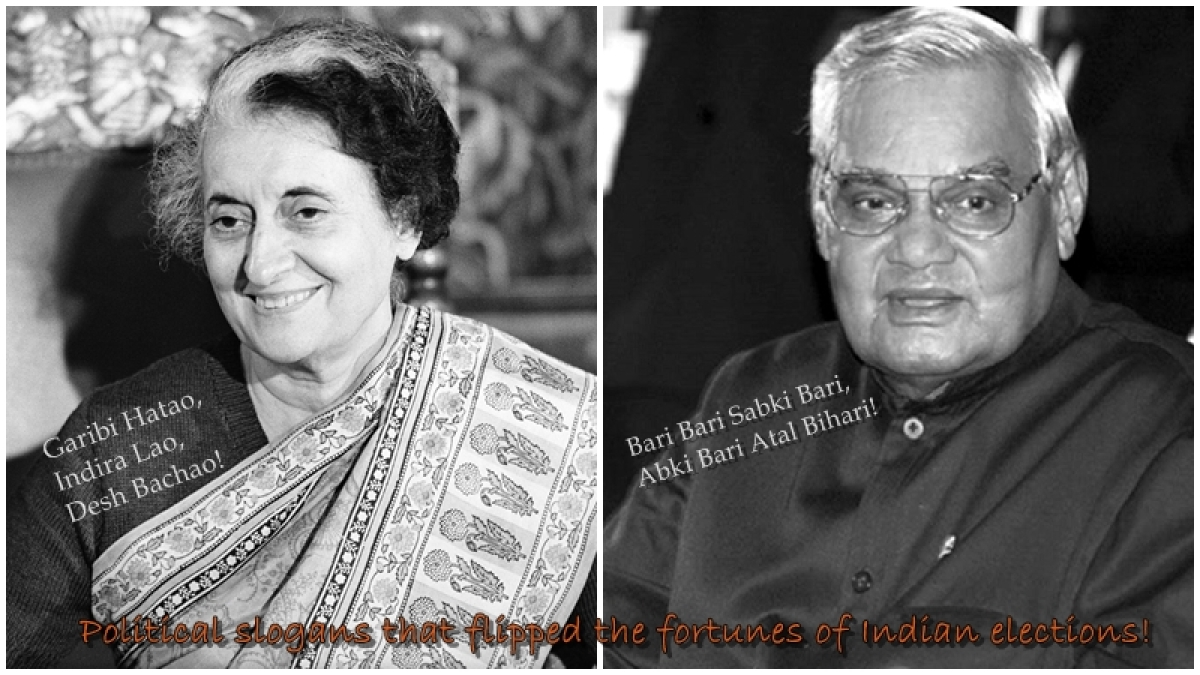 13 political slogans that flipped the fortunes of Indian elections!