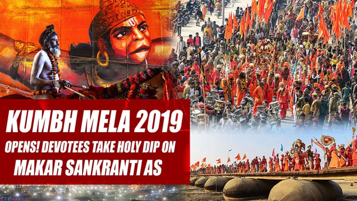 Kumbh Mela 2019 Opens! Devotees Take Holy Dip On Makar Sankranti