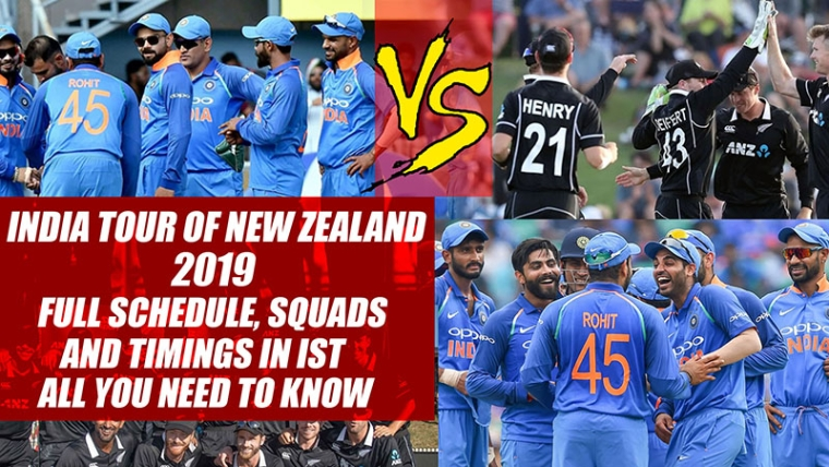 India Tour Of New Zealand 2019: Full Schedule, Squads And Timings In IST; All You Need To Know