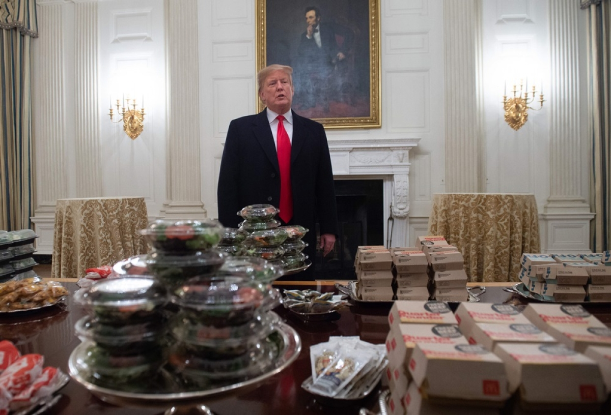 Burgers, pizzas, nuggets! Trump caters White House with fast food amid government shutdown