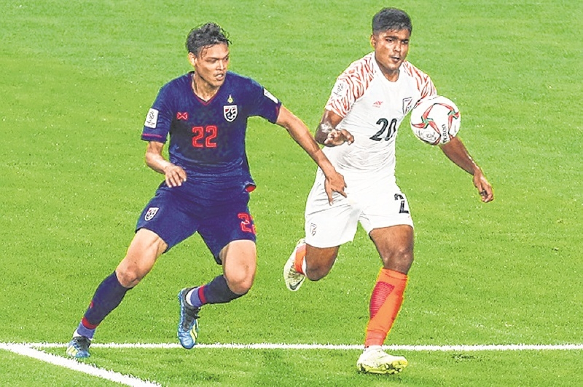 Thailand v India during their AFC Asian Cup UAE 2019 group A match at Al Nahyan Stadium on 06 January 2019, in Abu Dhabi, UAE. Photo by Stringer / Lagardere Sports