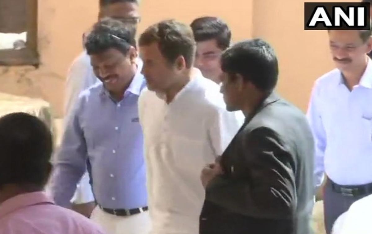 Rahul Gandhi meets ailing CM Manohar Parrikar in Goa, day after Rafale secret's claim