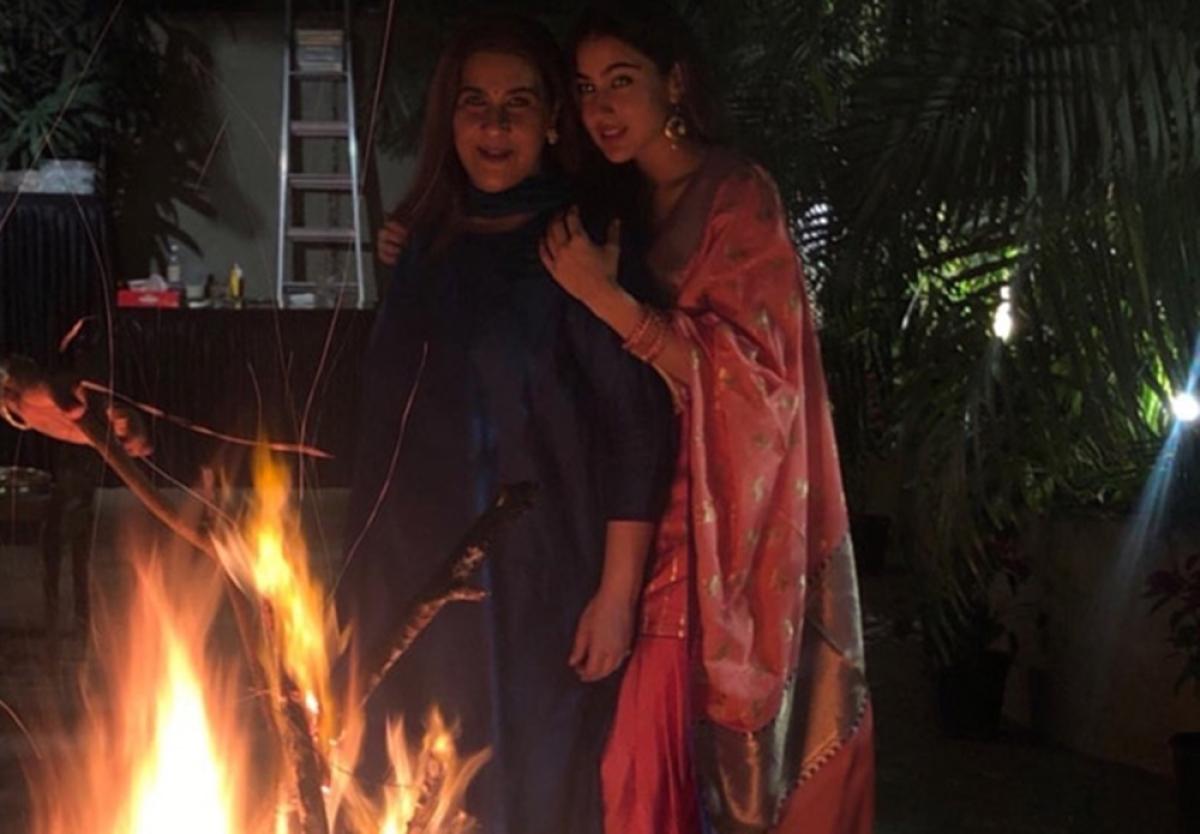In Pics: Sara Ali Khan is the perfect 'Desi Girl' at Lohri celebration with mom Amrita Singh
