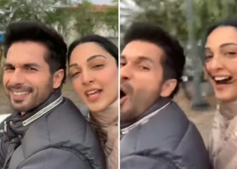 Kabir Singh: Shahid Kapoor, Kiara Advani enjoy bike ride in chilly weather of Delhi