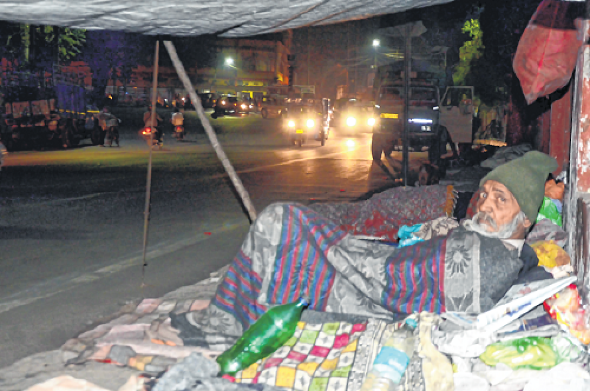 Bhopal: Out in the freezing cold under the open sky
